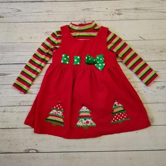 b3290c1077d Bonnie Jean Other - Bonnie Jean Toddler Girl's Christmas Jumper Dress
